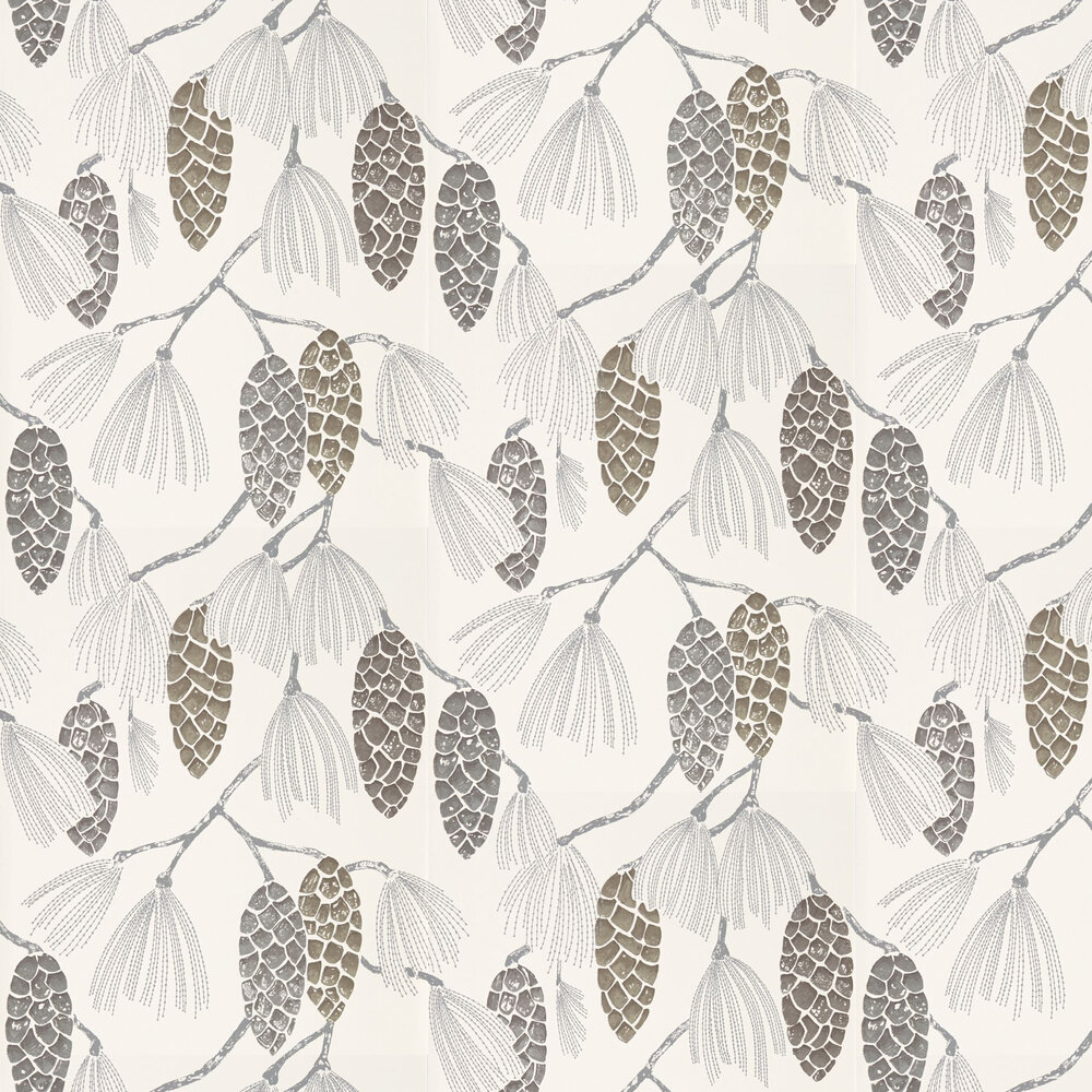 Epitome Wallpaper - Gilver / Silver / Chalk - by Harlequin