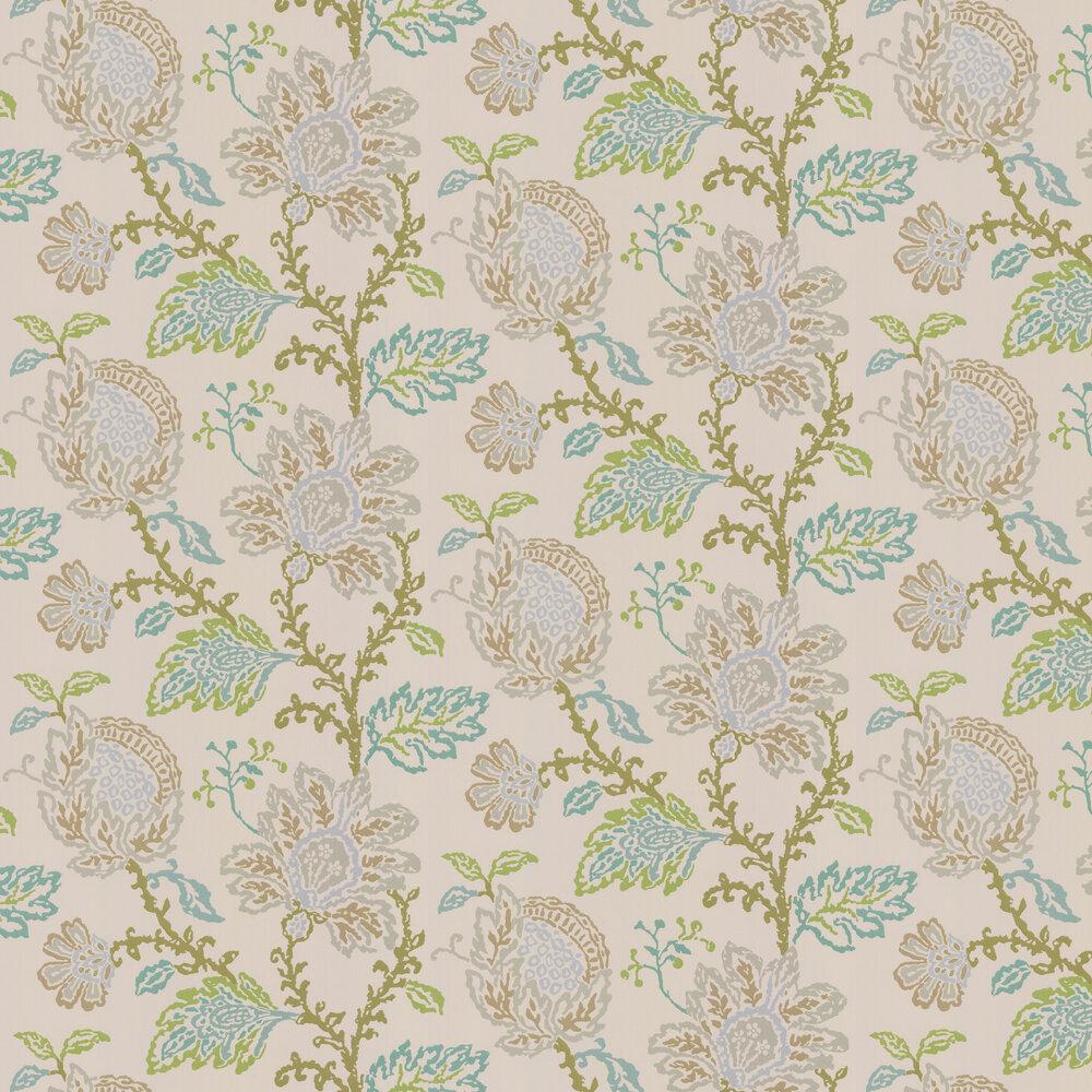 Nina Campbell Coromandel Stone / Green / Aqua Wallpaper - Product code: NCW4270/03