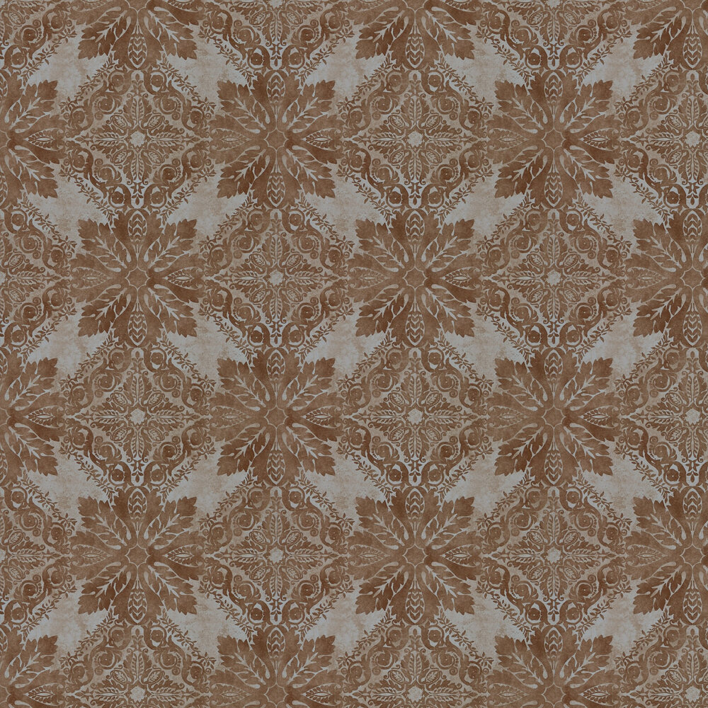 Zoffany Medevi Mirror Vintage Copper Wallpaper - Product code: 312611