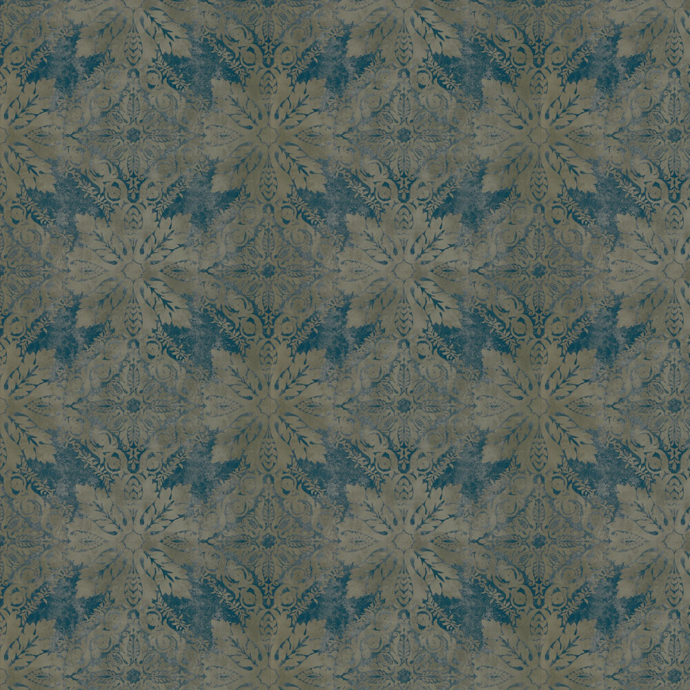 Zoffany Medevi Mirror Petrol Wallpaper - Product code: 312612