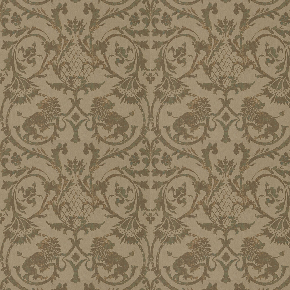Zoffany Landseer  Verdigris Wallpaper - Product code: 312614