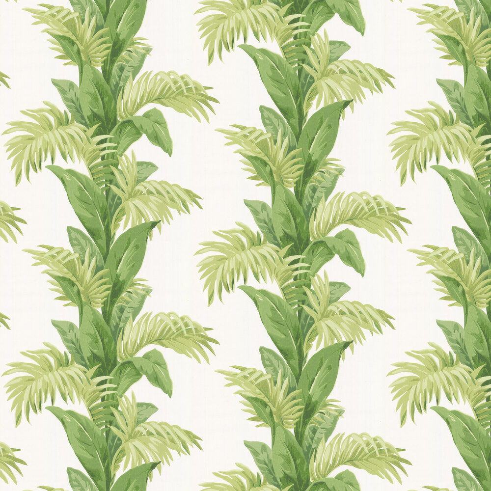 Palmetto Wallpaper - Green / Ivory - by Nina Campbell