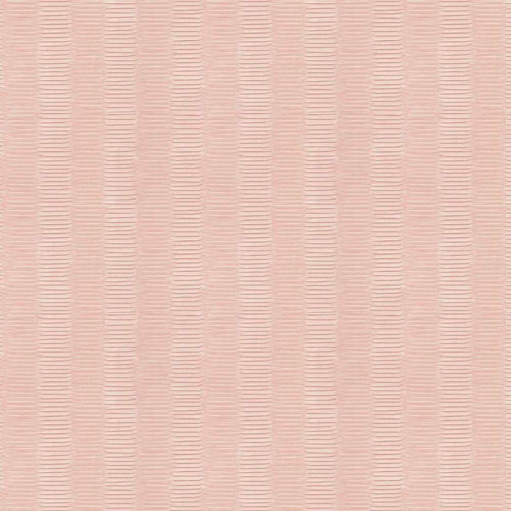 Concertina Wallpaper - Pink - by Nina Campbell