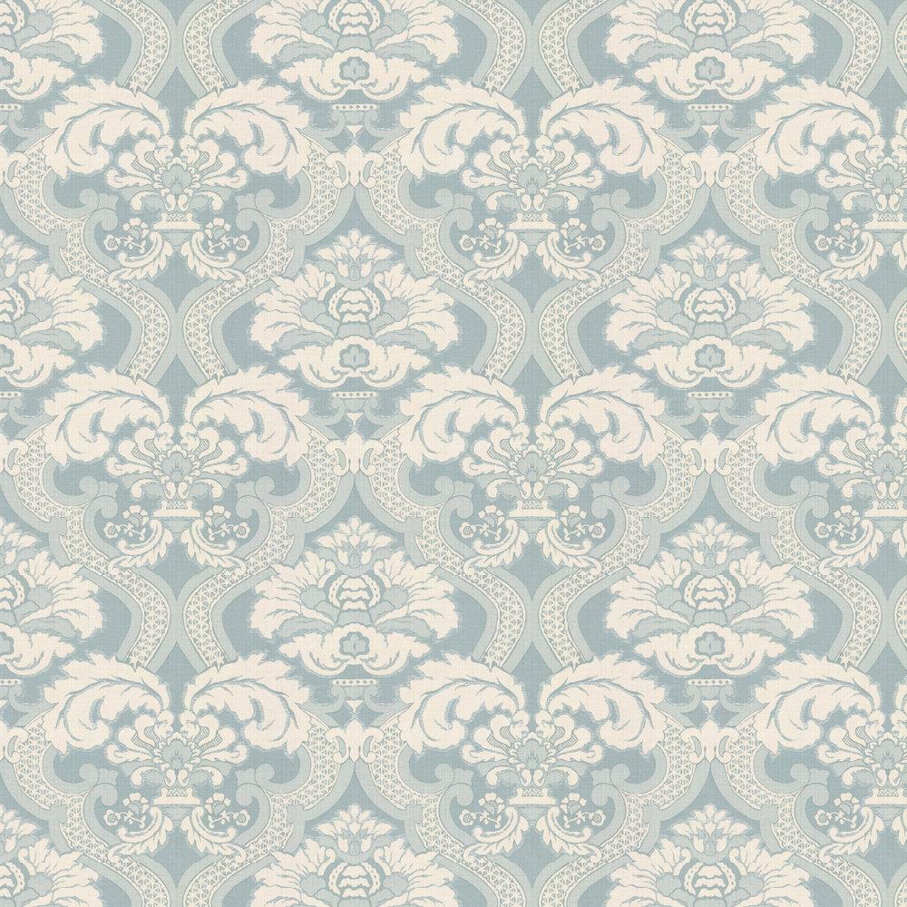 Nina Campbell Meredith Aqua Wallpaper - Product code: NCW4277/06