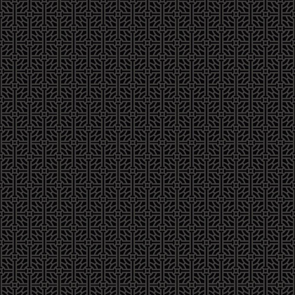 SketchTwenty 3 Fretwork Beaded Noir Wallpaper - Product code: SR00501