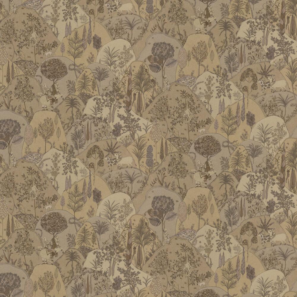 Aravali Wallpaper - Gold - by Matthew Williamson