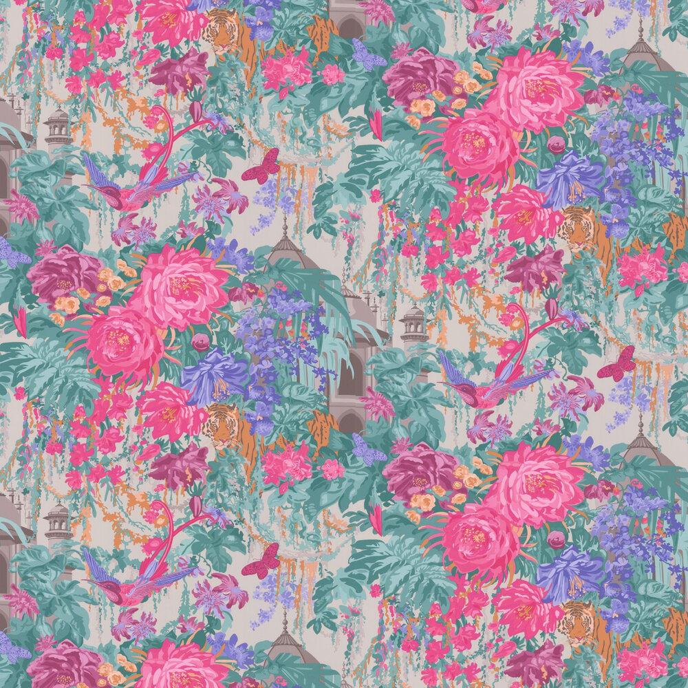 Mughal Garden Wallpaper - Pink / Lilac - by Matthew Williamson