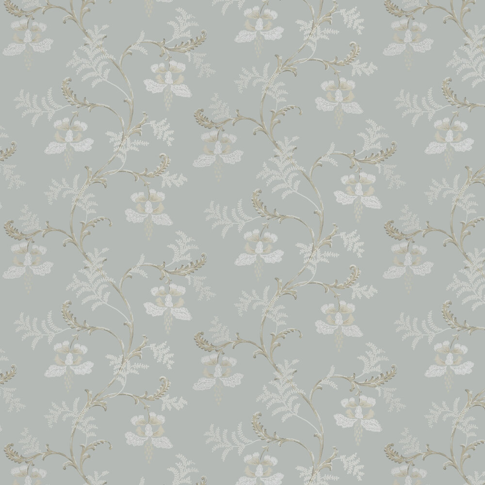 Bellflower Wallpaper - Old Blue - by Colefax and Fowler