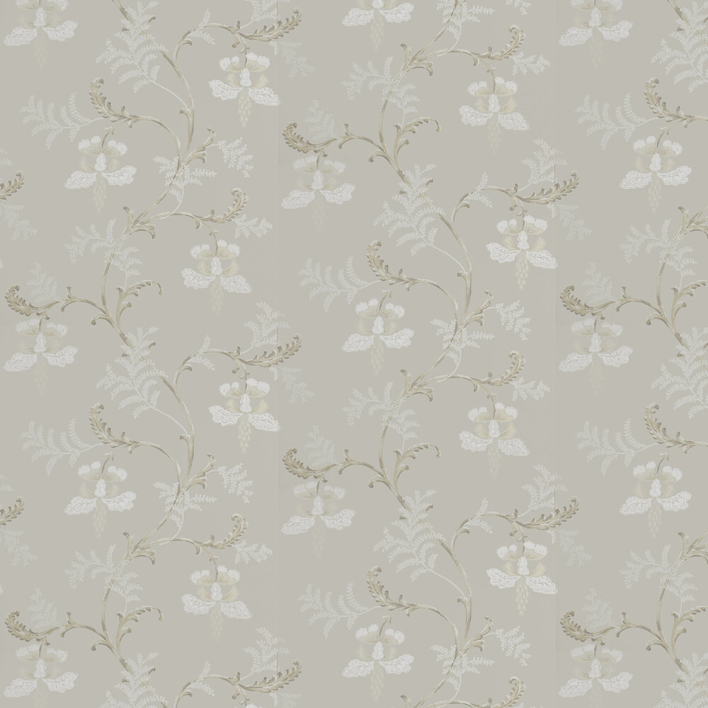 Colefax and Fowler Bellflower Silver Wallpaper - Product code: 07127/04