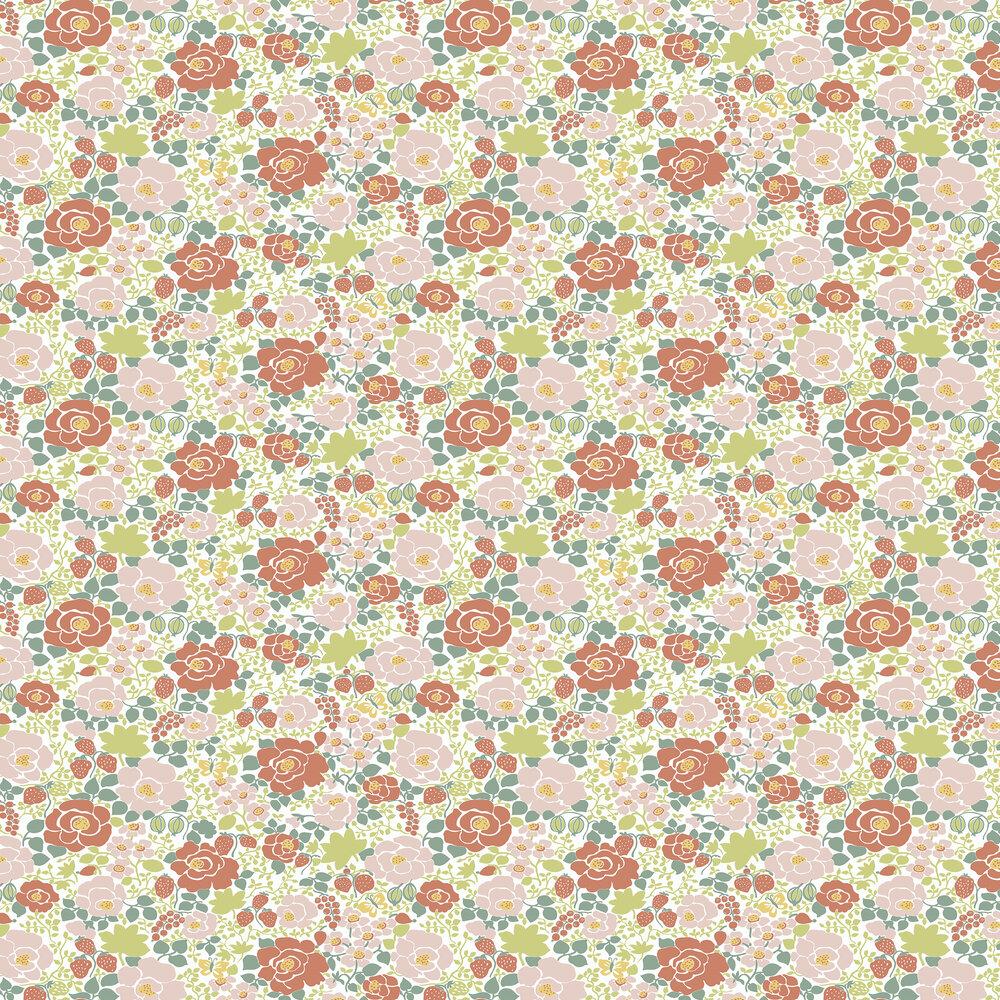 Jordgubben Wallpaper - Multi - by Boråstapeter