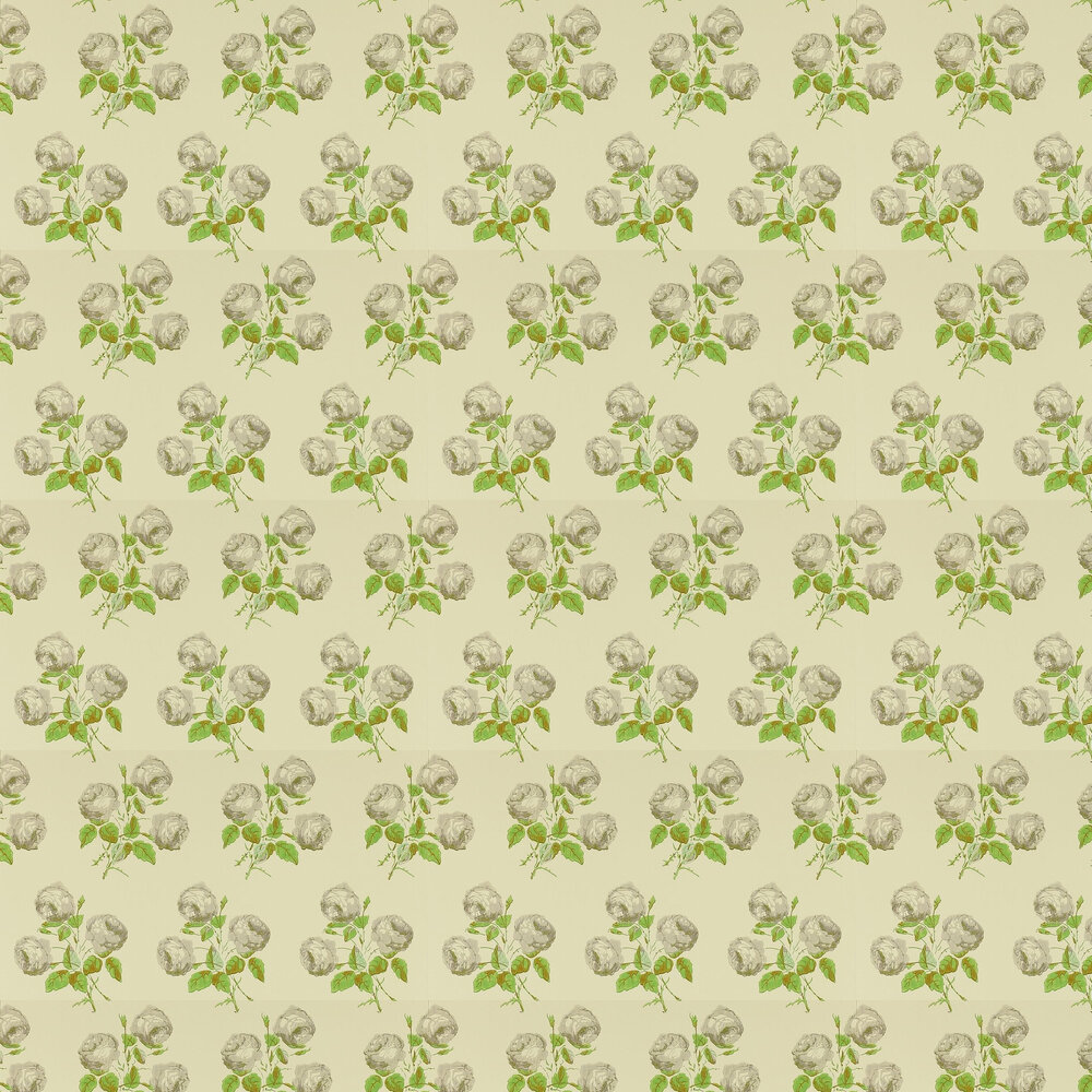 Bowood Wallpaper - Grey / Green - by Colefax and Fowler