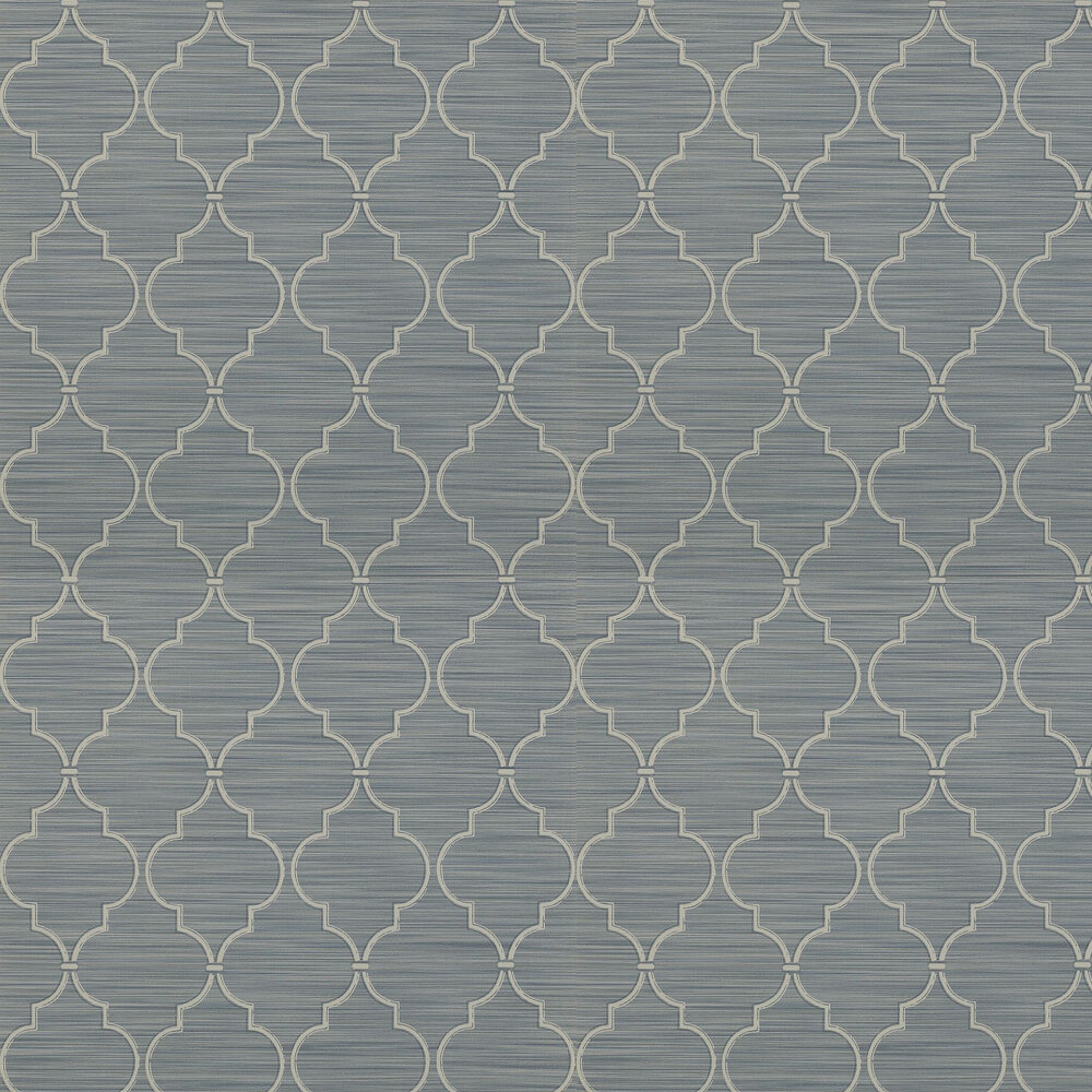 Colefax and Fowler Kenton Trellis Indigo Wallpaper - Product code: 07171/04