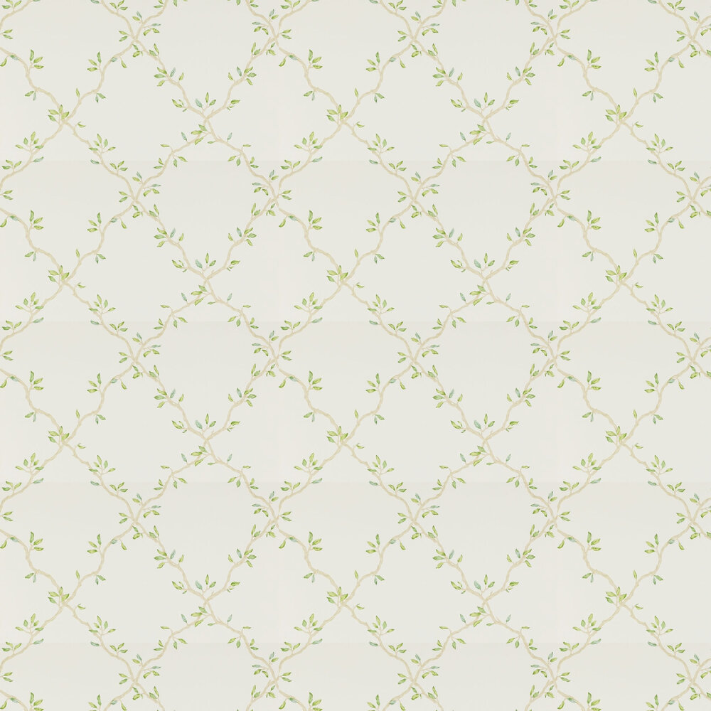 Colefax and Fowler Leaf Trellis Ivory / Green Wallpaper - Product code: 07706/02
