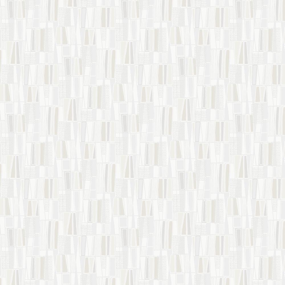 Retro Wallpaper - Cream - by Boråstapeter