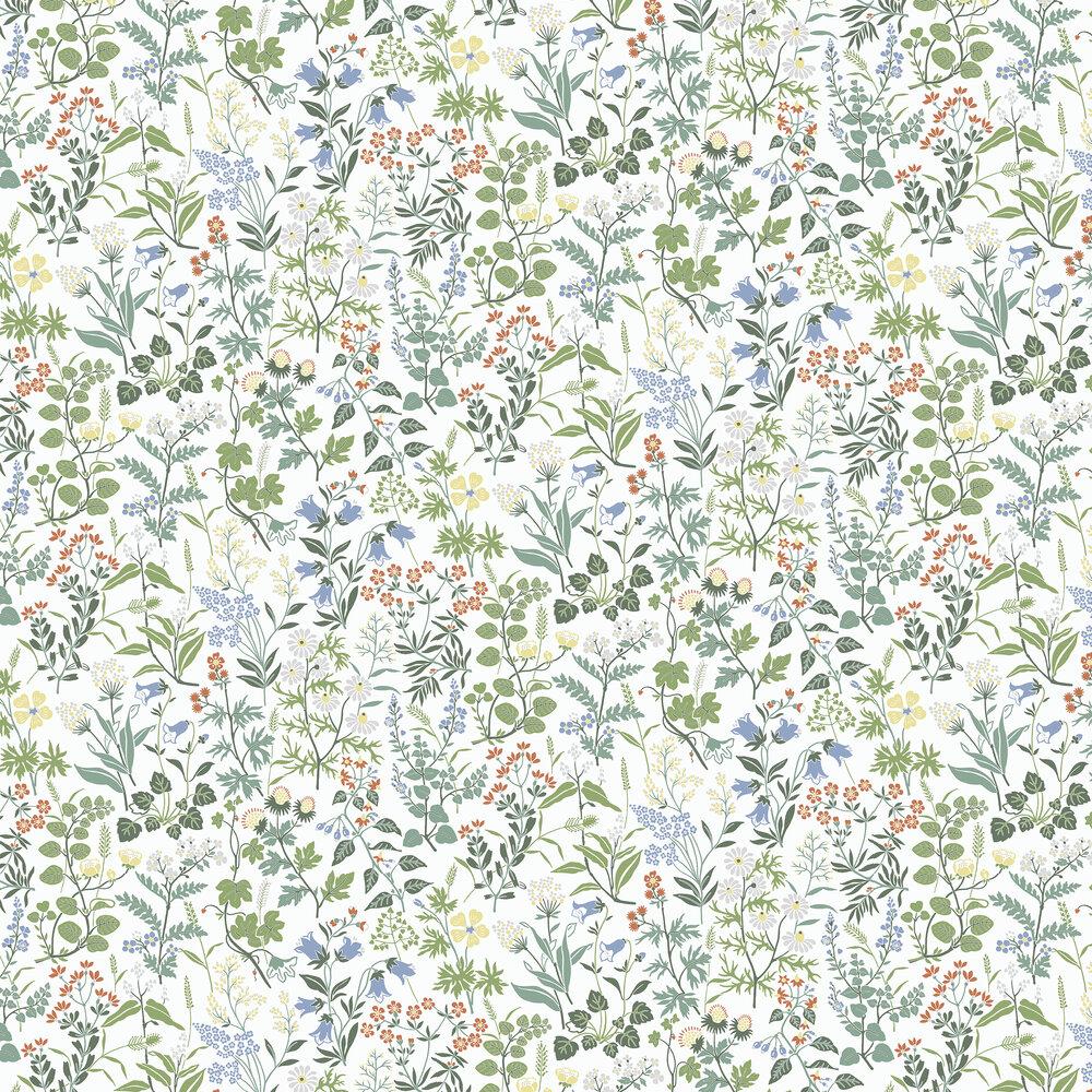 Flora Wallpaper - White - by Boråstapeter