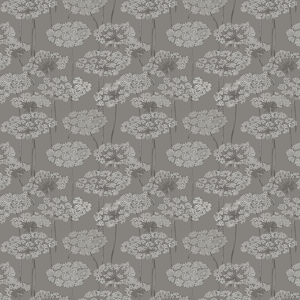 Ingrid Wallpaper - Grey - by Boråstapeter