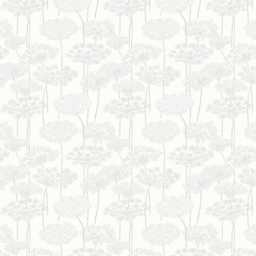 Ingrid Wallpaper - Silver - by Boråstapeter