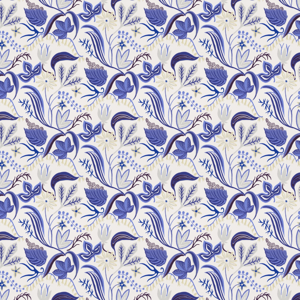Saro Wallpaper - Blue/Grey - by Sandberg