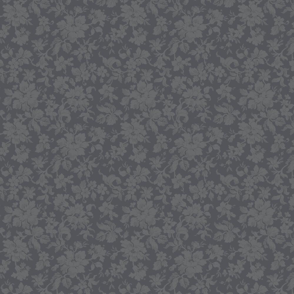 Lovisa Wallpaper - Black - by Boråstapeter