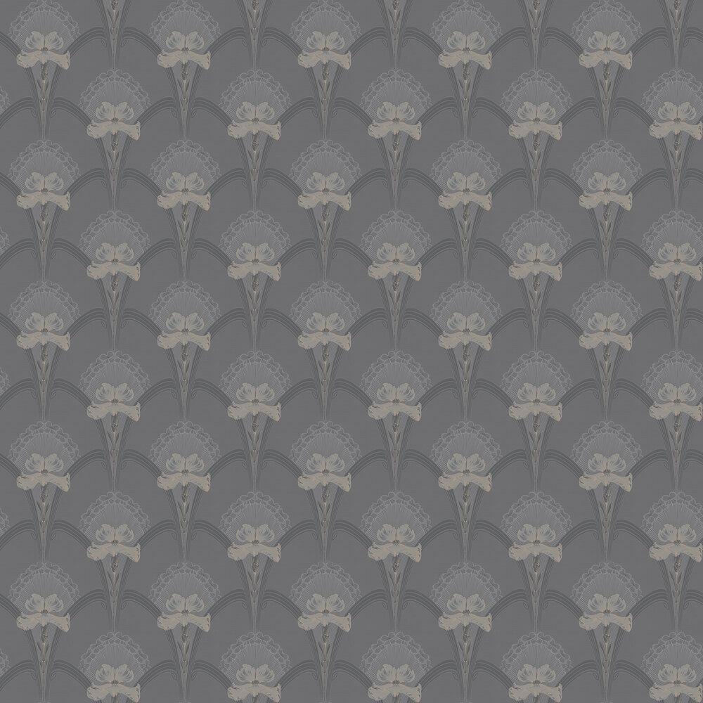 Lilja Wallpaper - Charcoal - by Boråstapeter