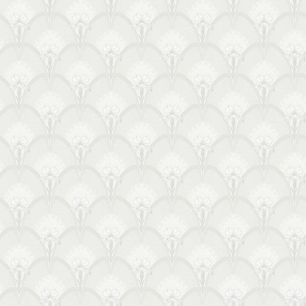 Lilja Wallpaper - White - by Boråstapeter