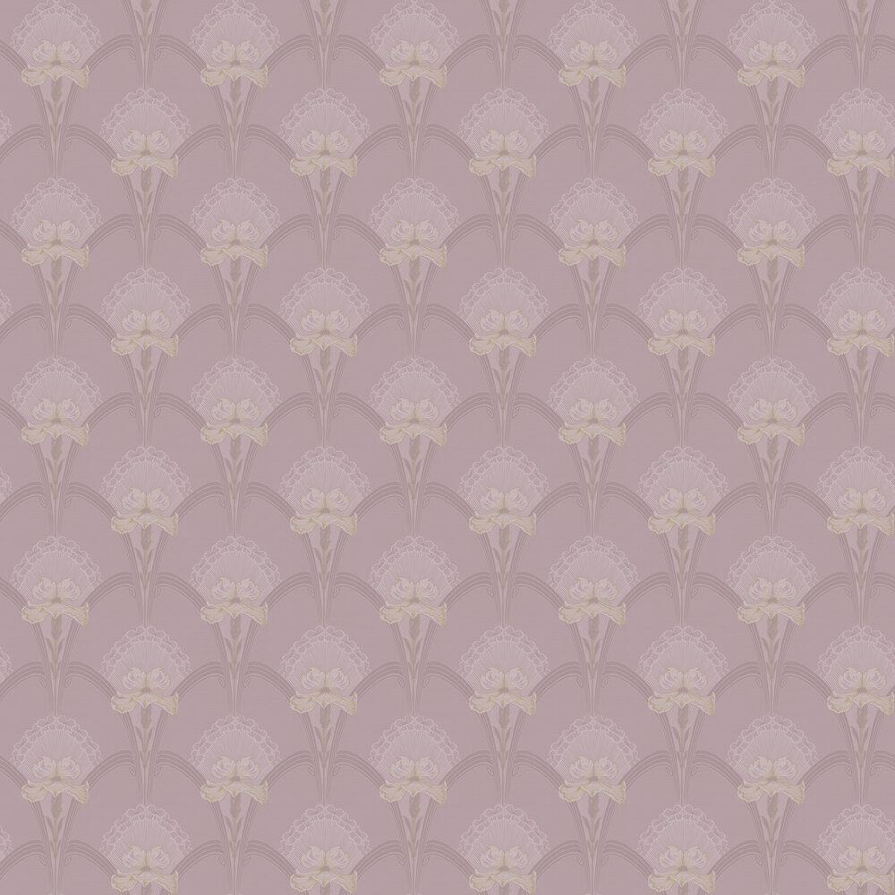 Lilja Wallpaper - Pink - by Boråstapeter
