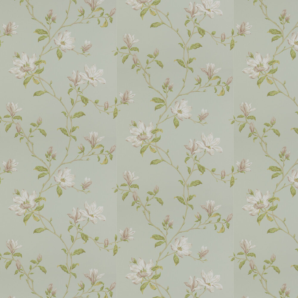 Marchwood Wallpaper - Aqua - by Colefax and Fowler