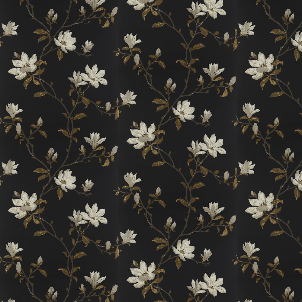 Marchwood Wallpaper - Black - by Colefax and Fowler