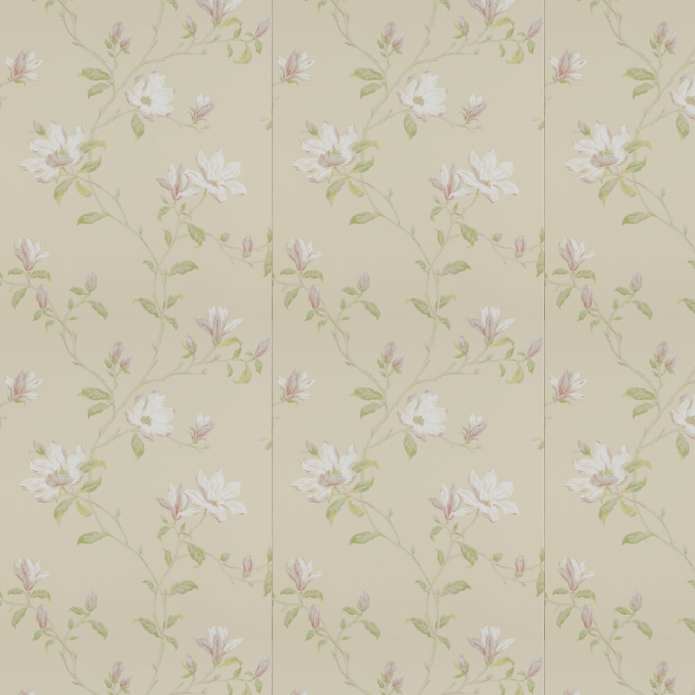 Marchwood Wallpaper - Ivory / Green - by Colefax and Fowler
