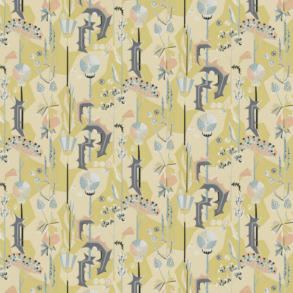 Sandberg Tistlar Yellow/Blue Wallpaper - Product code: 422-32