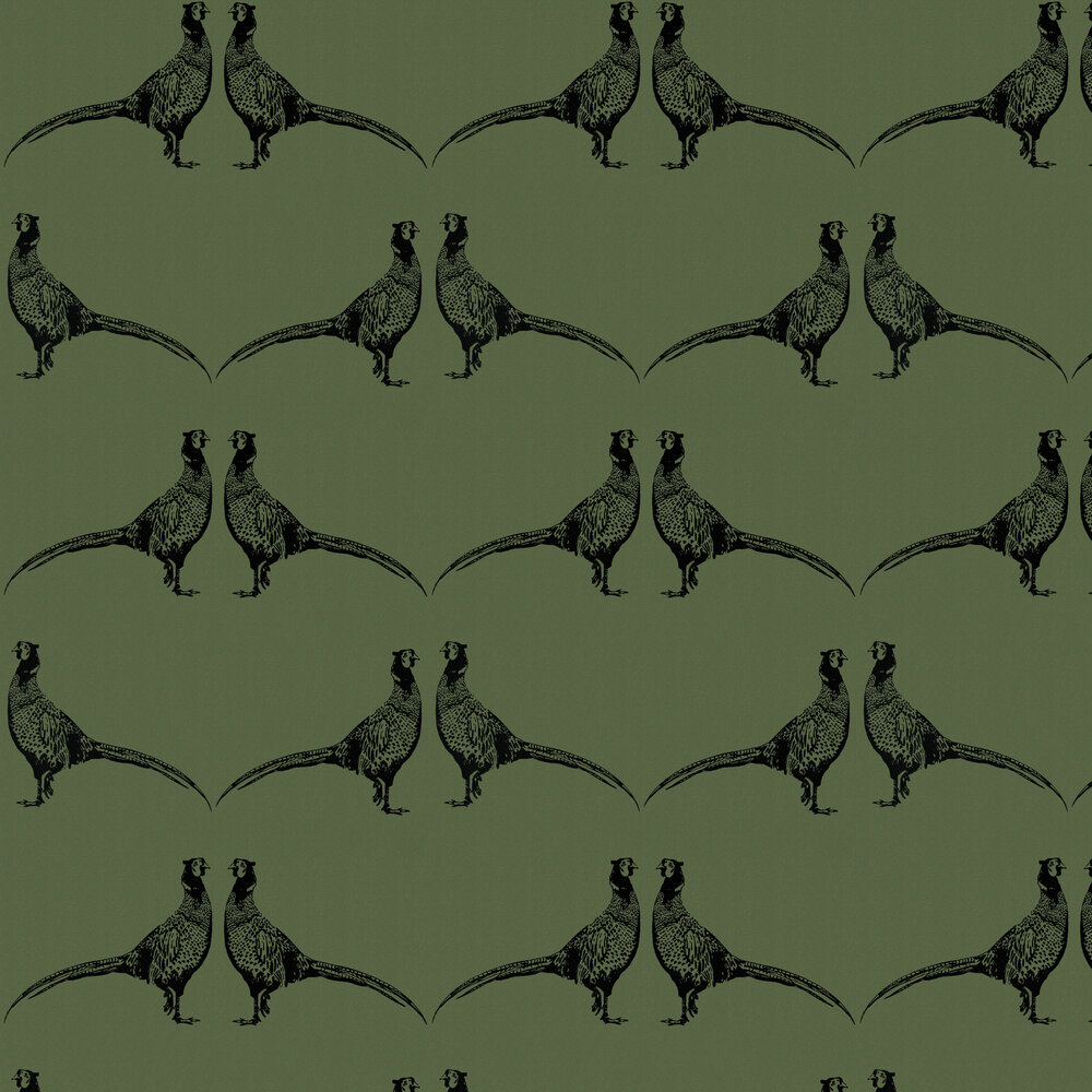 Barneby Gates Pheasant Camo Green Wallpaper - Product code: BG1500101