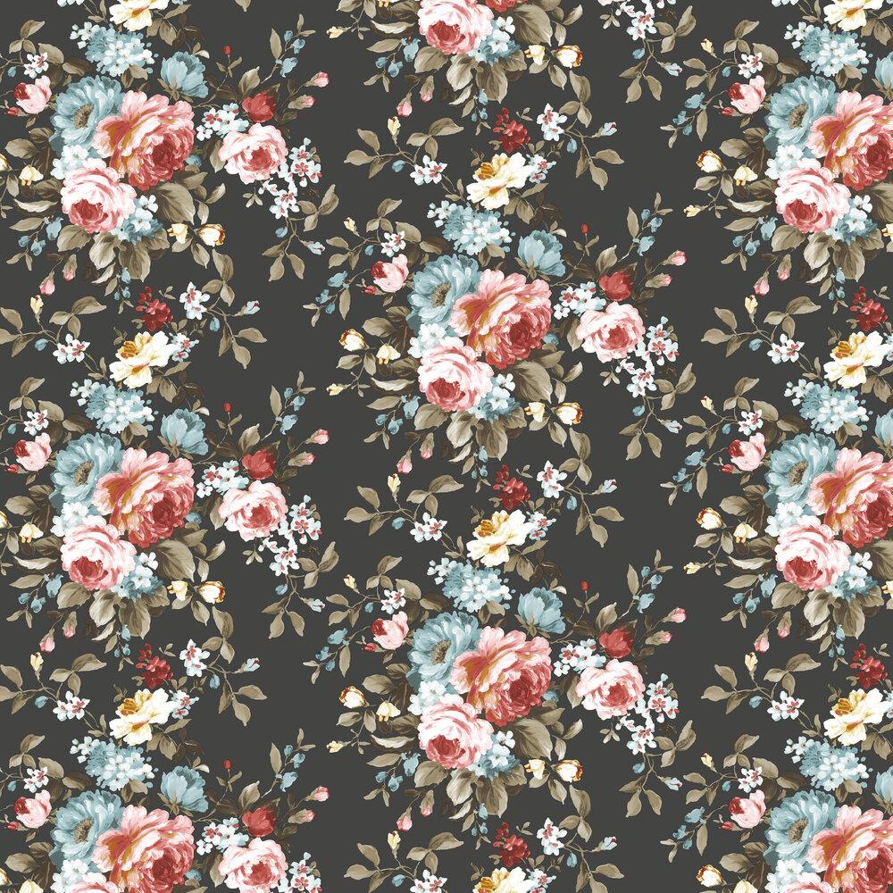 Emeline Wallpaper - Ebony - by Clarke & Clarke