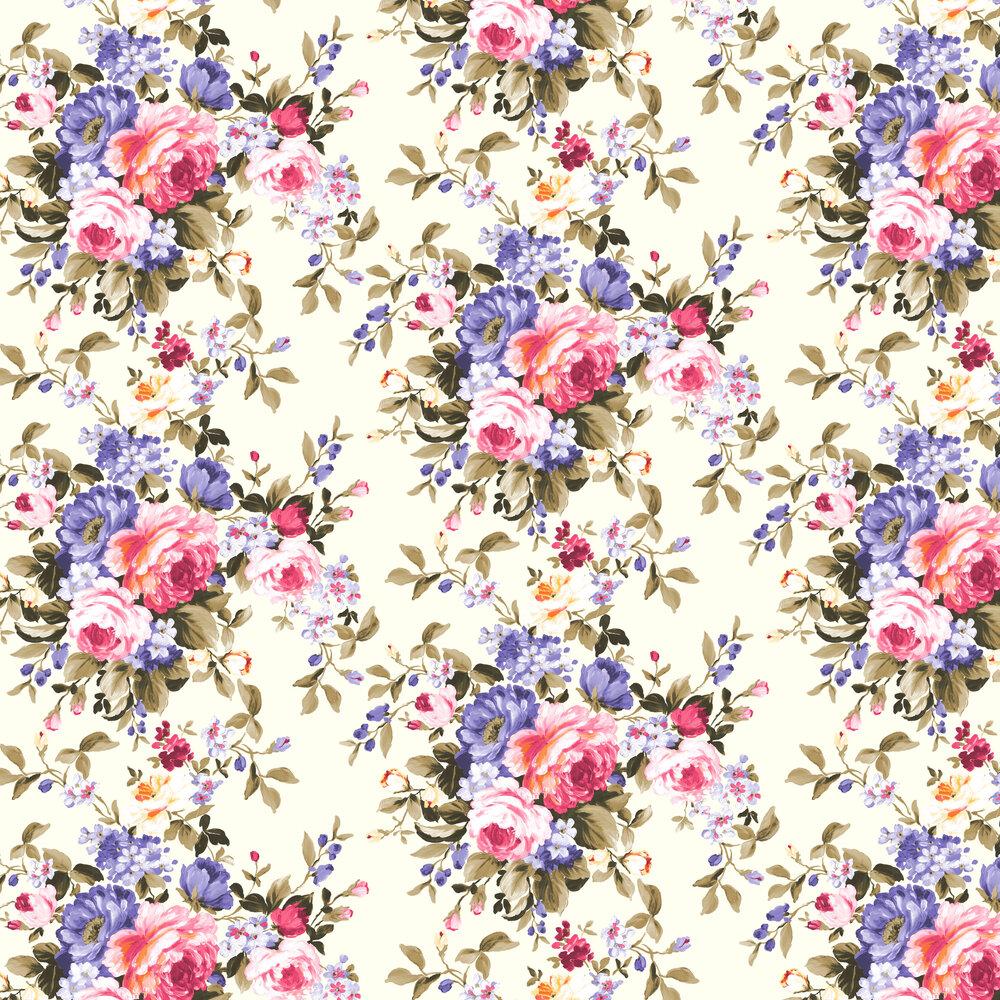 Emeline Wallpaper - Multi - by Clarke & Clarke