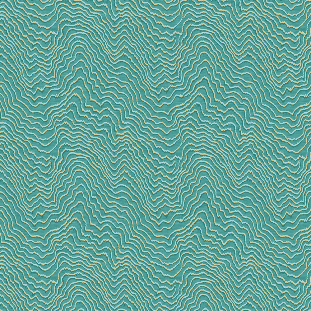 Fiji Wallpaper - Teal - by Clarke & Clarke