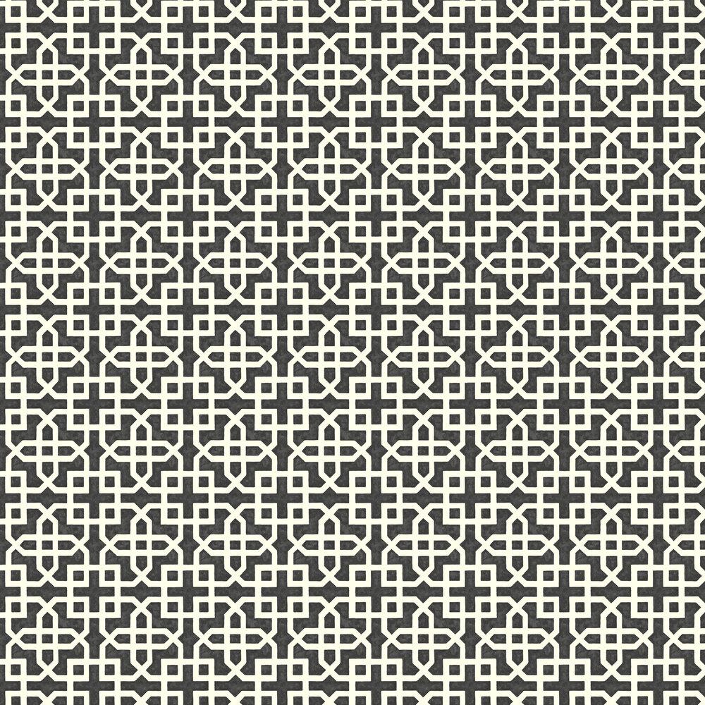 Monserrat Wallpaper - Ebony - by Clarke & Clarke