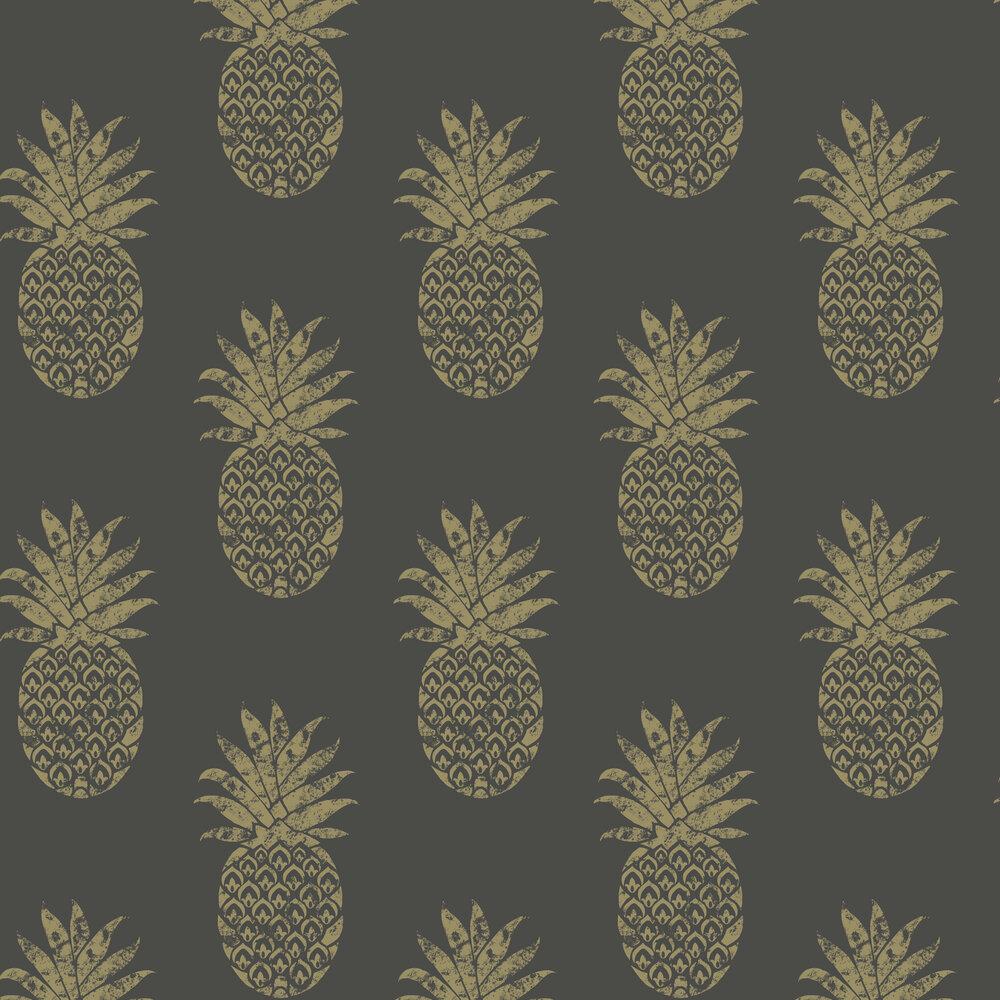 Clarke & Clarke Tobago Ebony Wallpaper - Product code: W0086/01