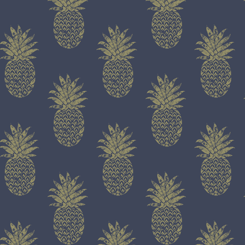 Tobago Wallpaper - Indigo - by Clarke & Clarke