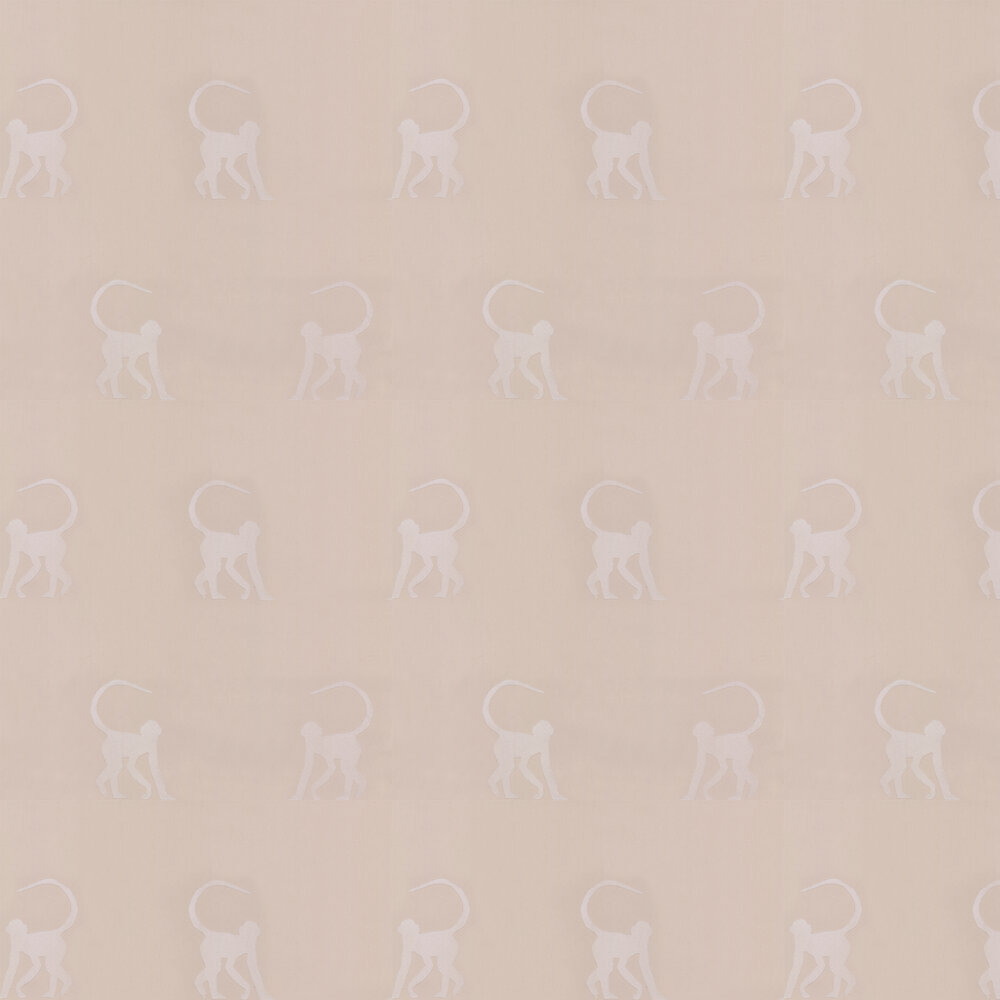 Cheeky Monkeys Wallpaper - Natural - by Andrew Martin