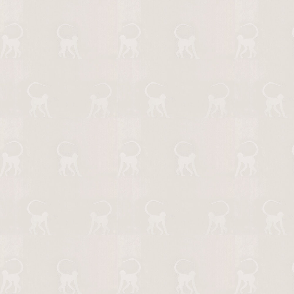 Cheeky Monkeys Wallpaper - Ivory - by Andrew Martin