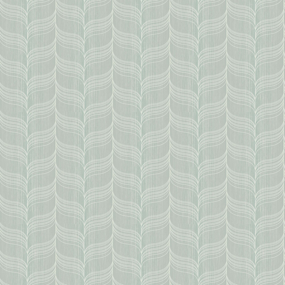 Today Interiors Wave Mint Blue Wallpaper - Product code: 1301502