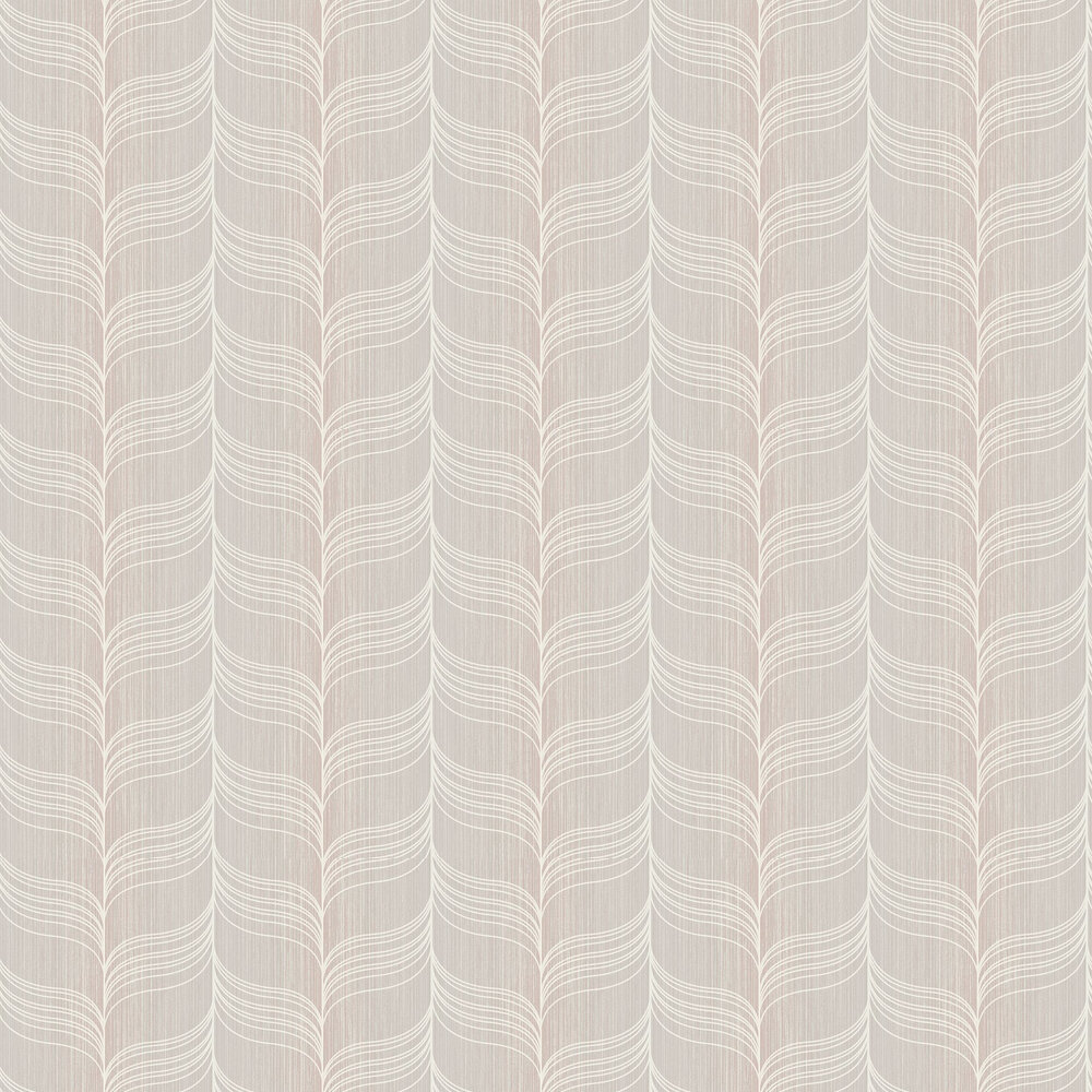 Today Interiors Wave Pale Lilac Wallpaper - Product code: 1301509