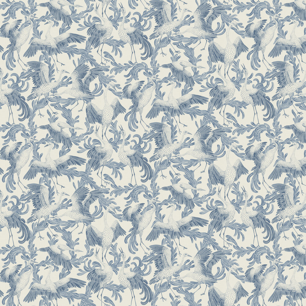 Engblad & Co Dancing Cranes Blue Wallpaper - Product code: 3650