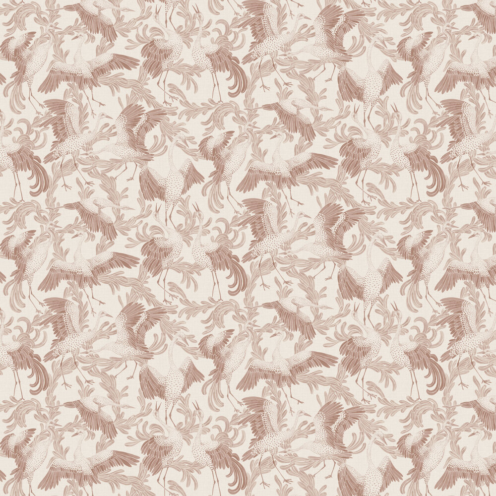 Engblad & Co Dancing Cranes Red Wallpaper - Product code: 3651