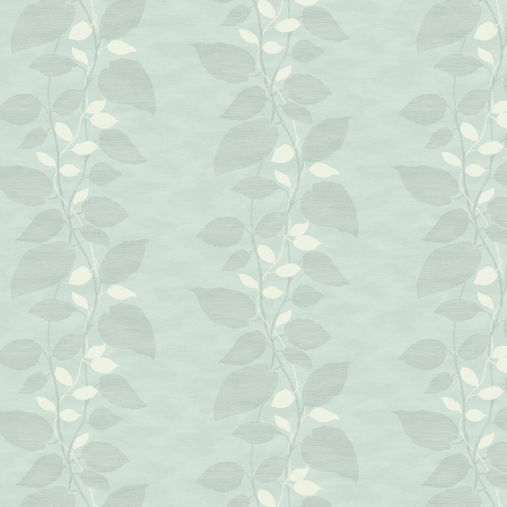 Today Interiors Vertical Leaf Trail Blue & Grey Wallpaper - Product code: 1303202