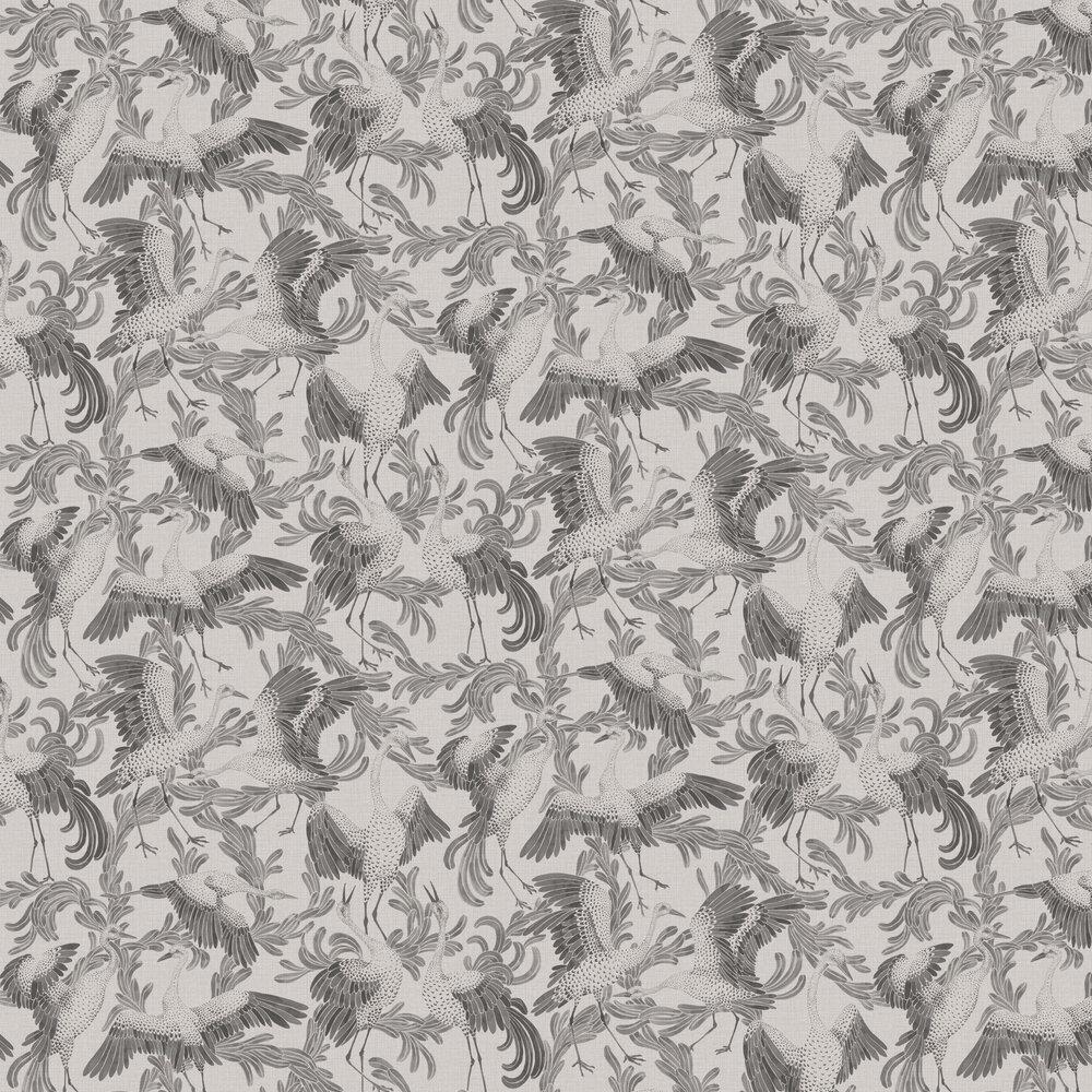 Engblad & Co Dancing Cranes Grey Wallpaper - Product code: 3652