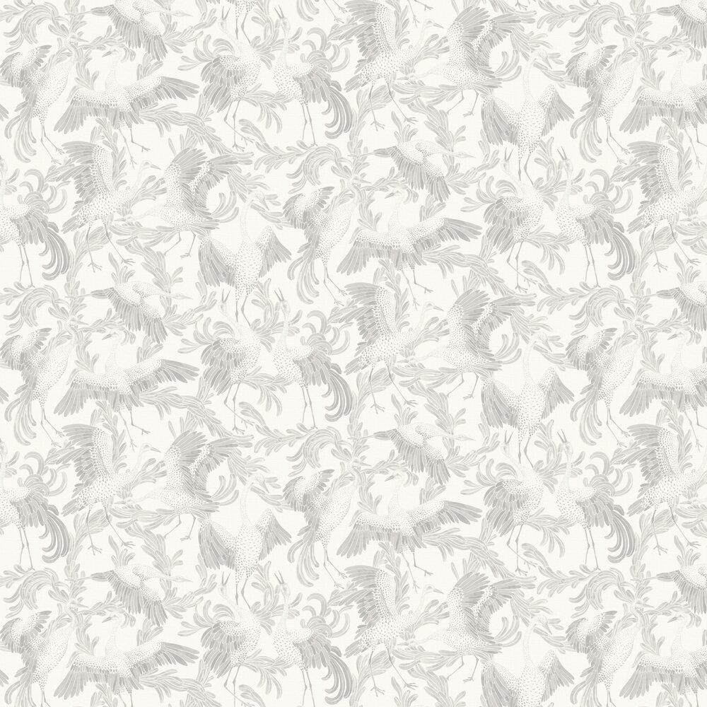 Engblad & Co Dancing Cranes Light Grey Wallpaper - Product code: 3653