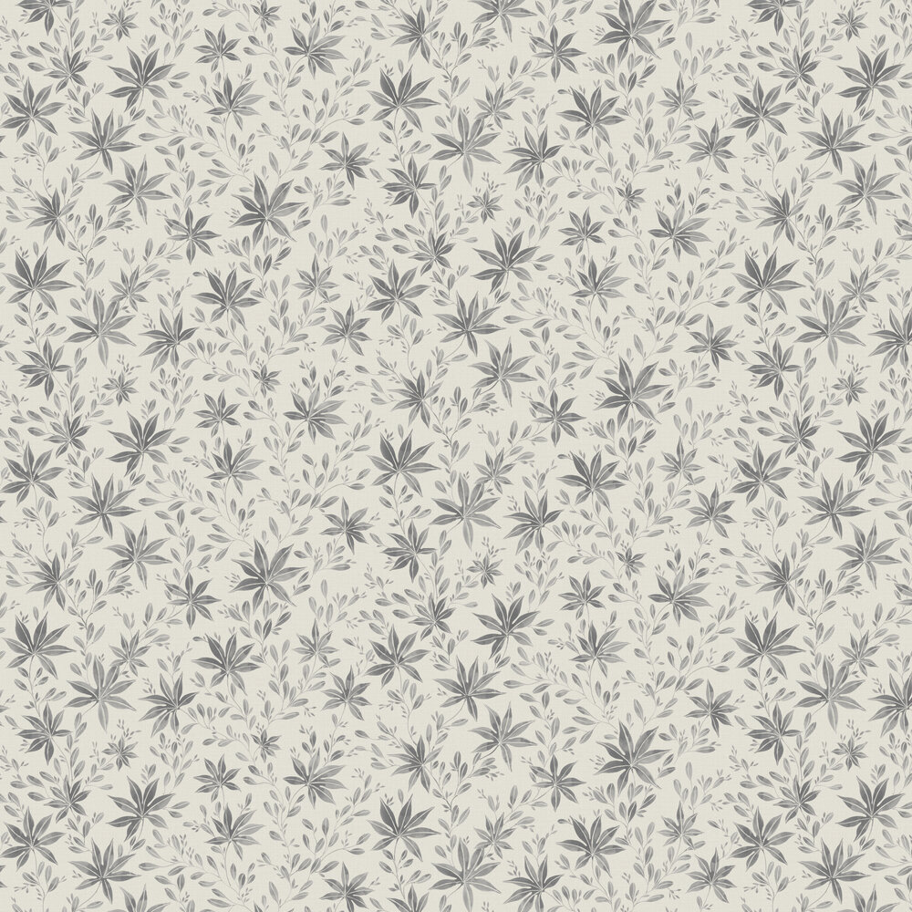 Engblad & Co Maple Leaf Dark Grey Wallpaper - Product code: 3655