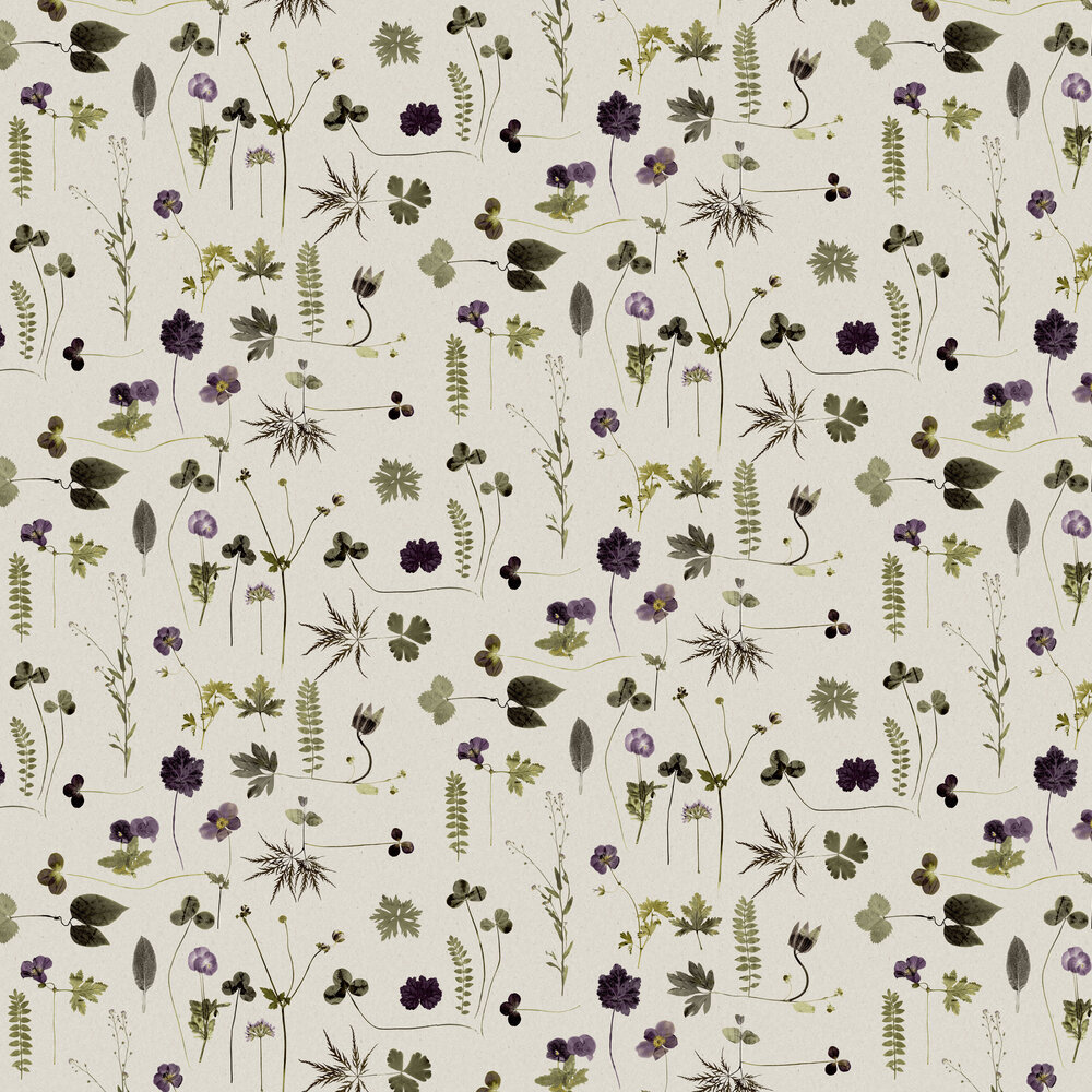 Engblad & Co Botanica Purple and Green  Wallpaper - Product code: 3661