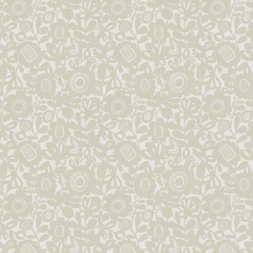 Kukkia Wallpaper - Birch - by Scion