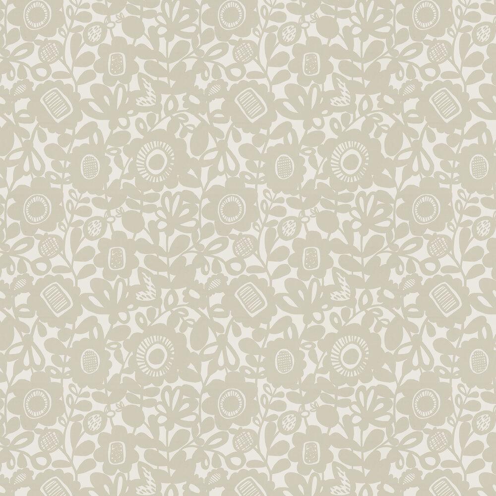 Kukkia Wallpaper - Dove - by Scion